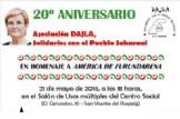 """""""20º ANIVERSARIO DE LA ASOCIACIÓN DAJLA, SOLIDARIOS CON EL PUEBLO SAHARAUI. EN HOMENAJE A AMÉRICA DE FURUNDARENA"""""""