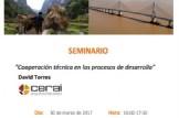 """SEMINARIO """"Cooperación técnica en los procesos de desarrollo"""""""