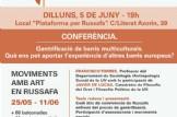 """Conferència: """"Gentrificació de barris multiculturals. Què ens pot aportar l'experiència d'altres barris europeus?"""""""