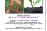 """SEMINARIO-COLOQUIO: """"HACIA UN ECOSOCIALISMO DESCALZO"""" con Jorge Riechmann"""
