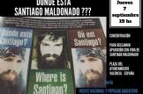 Concentracion para reclamar la aparición con vida de Santiago Maldonado