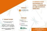 III JORNADES SOBRE RESPONSABILITAT SOCIAL I ECONOMIA DEL BÉ COMÚ EN ENTITATS FINANCERES