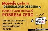 """Marcha y Concentración en Alicante """"Muévete contra la desigualdad obscena"""""""