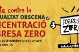 Concentració i performance en Castelló contra la desigualtat obscena