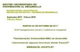 Acto inaugural Máster en Cooperación al Desarrollo UPV