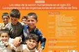 Jornada: Los retos de la ación humanitaria en el siglo XXI