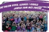 Manifestacions pel Día Internacional per a l'eliminació de la violència contra les dones