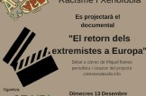 """Proyección documental """"El retorno de los extremistas a Europa""""."""