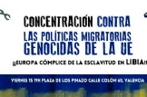 Concentracion Contra las políticas migratorias genocidas de la UE