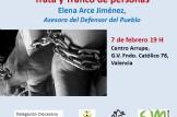 """""""Trata y Tráfico de personas"""" con Elena Arce, asesora del defensor del pueblo."""