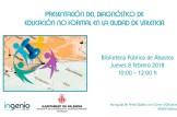 Presentación del Diagnostico de Educación no formal en la ciudad de Valencia