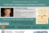 """La Càtedra d'Economia del Bé Comú organitza la presentació del nou llibre: """"Por un comercio mundial ético"""" de Christian Felber"""