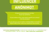 """Presentacion de la campaña """"INFLUENCERS ANÓNIMOS"""" la Cooperacion al desarrollo en Alicante"""