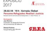 "Xerrada ""persones Refugiades: Realitat i Justícia"" con Paloma Favieres y Joan Romero// Charla ""Personas Refugiadas: Realidad y Justícia"" amb Paloma Favieres i Joan Romero"