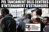 Concentració pel tancament dels Centres d´Internament de´Estrangers CIEs NO