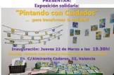 """Exposición solidaria """"Pintando con cuidados ...para transformar la realidad!"""""""