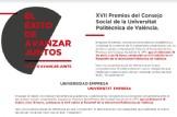 XVII Premios del Consejo Social de la Universitat Politècnica de València