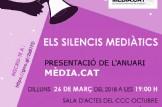ELS SILENCIS MEDIÀTICS de 2016 i 2017 Presentació Anuari MÈDIA.CAT  CCC Octubre, València.