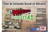 MESA REDONDA: PLAN DE INCLUSIÓN SOCIAL EN ALICANTE: PROTESTAS Y PROPUESTAS