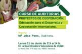 Formación Interna: Auditorías de proyectos de cooperación al desarrollo: Educación para el desarrollo y cooperación internacional