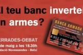 """Ciclo de charlas-debate """"De la Banca armada a la banca ética"""" en la Comunidad Valenciana"""