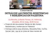 """Presentación de la película """"Detrás de l@s frentes: resistencias y resiliencias en Palestina""""."""