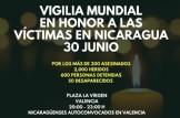 Vigilia Mundial en honor de las víctimas en Nicaragua