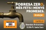 """ANUL·LADA Performance i Concentració contra la Pobresa en Castelló """"Més fets i Menys promeses, Drets Ja"""""""