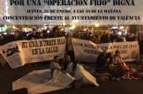 Concentración de denuncia en València en solidaridad con las personas sin techo