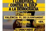 Igualtat, drets i llibertats contra el colp a la democracia