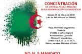 Concentración de apoyo al pueblo argelino en sus reivindicaciones democraticas