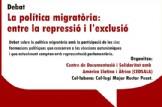 Debat 'La política migratòria: entre la repressió i l'exclusió'