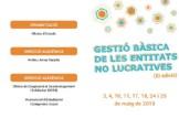"""curs de formació continuada """"Gestió Bàsica de les Entitats no Lucratives"""" (XI edició)"""