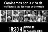 Marcha por la vida de los líderes y las lideresas de Colombia
