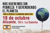 Concentración Pobresa Zero en Alicante