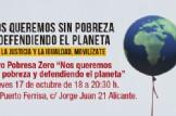 """Foro Pobresa Zero """"Nos queremos sin pobreza y defendiendo el planeta"""""""