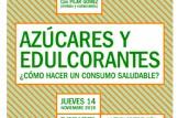 """Taller: Azúcares y edulcorantes, ¿cómo hacer un consumo saludable? """"Alimentación saludable con productos de comercio justo"""""""
