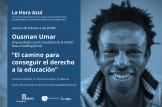 """Encuentro abierto con Ousman Umar: """"El camino para conseguir el derecho a la educación"""""""