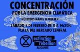 Concentración por la emergencia climática