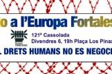 """No a l´Europa Fortalesa, 121! cassolada """"Els drets humans no es negocien"""""""