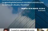 """Charla online """" _RESPUESTA A LA COVID: La agenda global para un rescate económico que no defraude: deuda y fiscalidad_ """""""