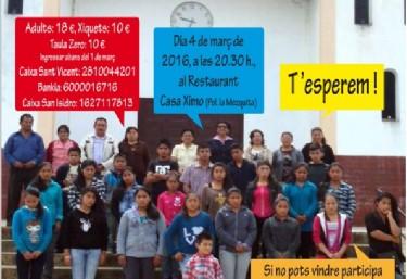 Sopar Solidari 2016 per als projectes de l´ONGD TÚPAY