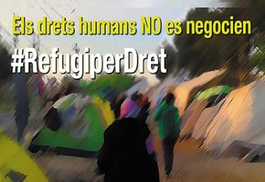 MANIFESTACIÓ #RefugiPerDret. Els drets Humans no es negocíen
