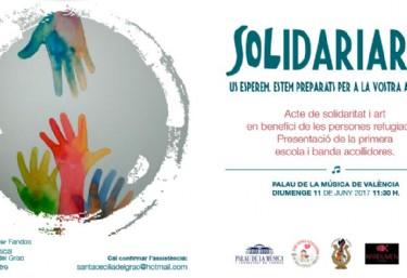 Solidariarte. Acte de solidaritat i art en benefici de les persones refugiades