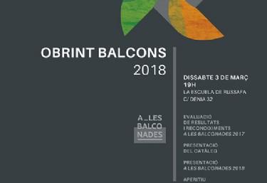 Jornada Obrint Balcons 2018
