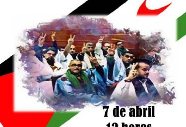 Concentración an apoyo a los presos políticos saharahuis en huelga de hambre
