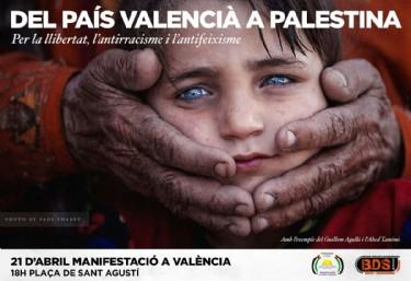 MANIFESTACIÓ: Del País Valencià a Palestina Per la llibertat, l'antirracisme i l'antifeixisme.