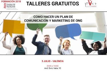 Talleres gratuitos: cómo hacer un plan de marketing y comunicación de ONG