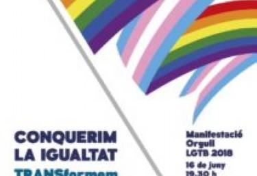 #OrgullVLC2018 con el lema 'CONQUISTANDO LA IGUALDAD, TRANSformando la sociedad'