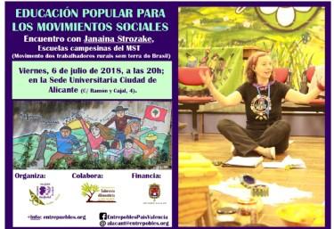 Encuentro: Educacion popular para los movimientos sociales con Janaina Strokaze